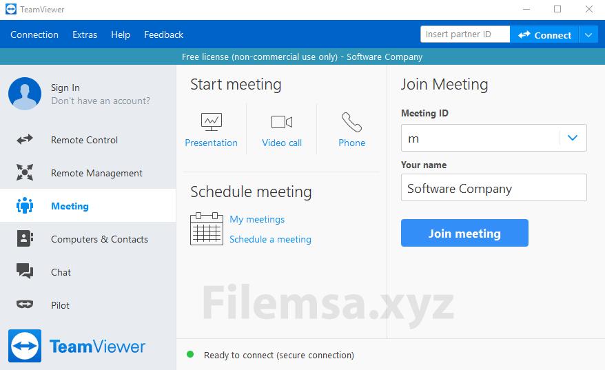 TeamViewer Meeting Interface